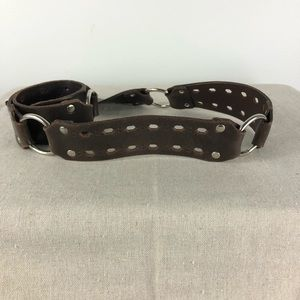Buckle Accessories - The Buckle Distressed Brown Cutwork Leather Belt